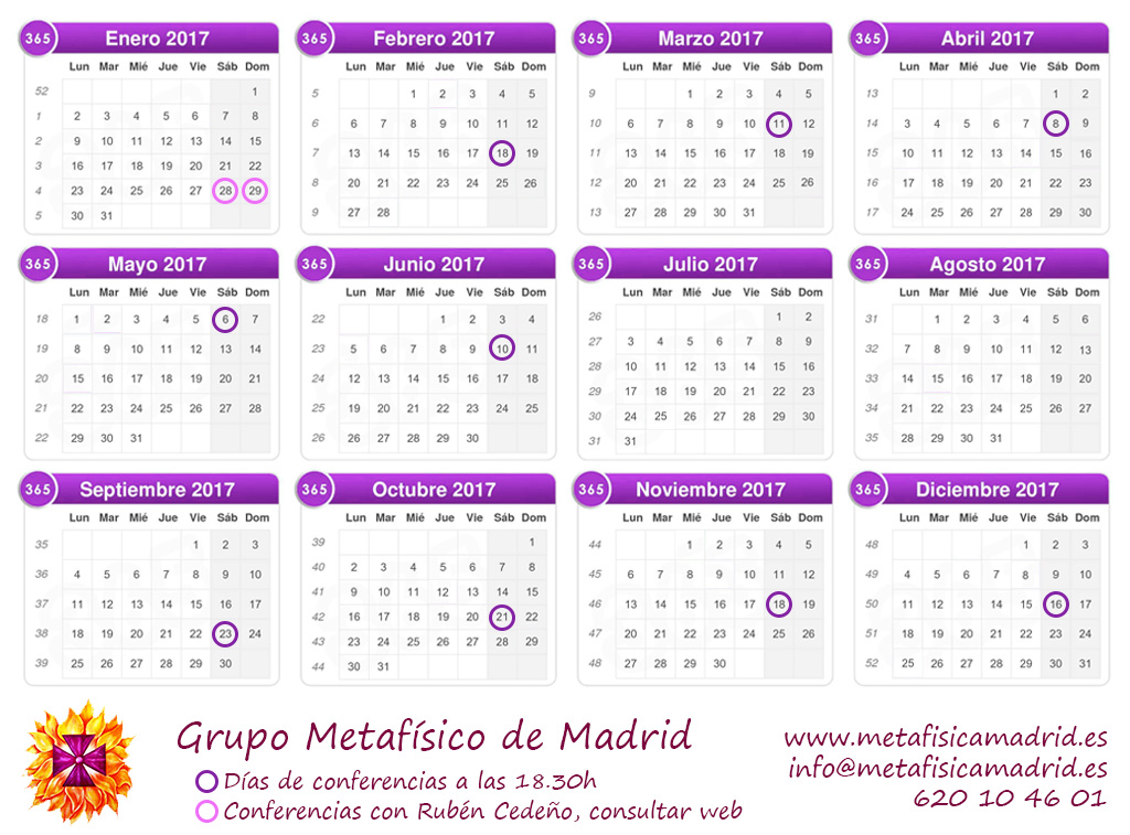 calendario conferencias 2017 grupo metafisico de madrid2